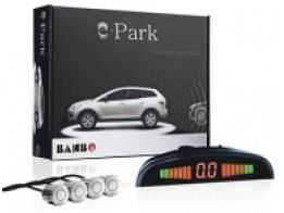 Sensor de Estacionamento 4 Sensores Wireless Prata com Display