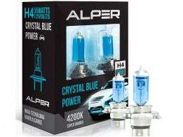 Lâmpada Super Branca Alper Crystal Blue Power H4 4200K