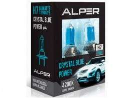 Lâmpada Super Branca Alper Crystal Blue Power H7 4200K