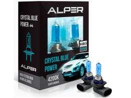 Lâmpada Super Branca Alper Crystal Blue Power HB3 4200K