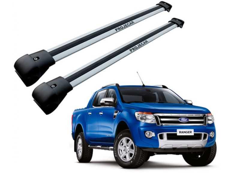 Rack Travessa de Teto para Ford Ranger 2013 Até 2015 - Prata Largo Projecar Fo-521