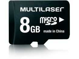 Micro SD Card 8GB Multilaser + Adaptador para SD