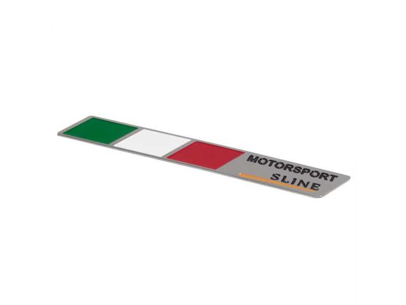 Emblema Badge Italy Motorsport Sline - Diagonal