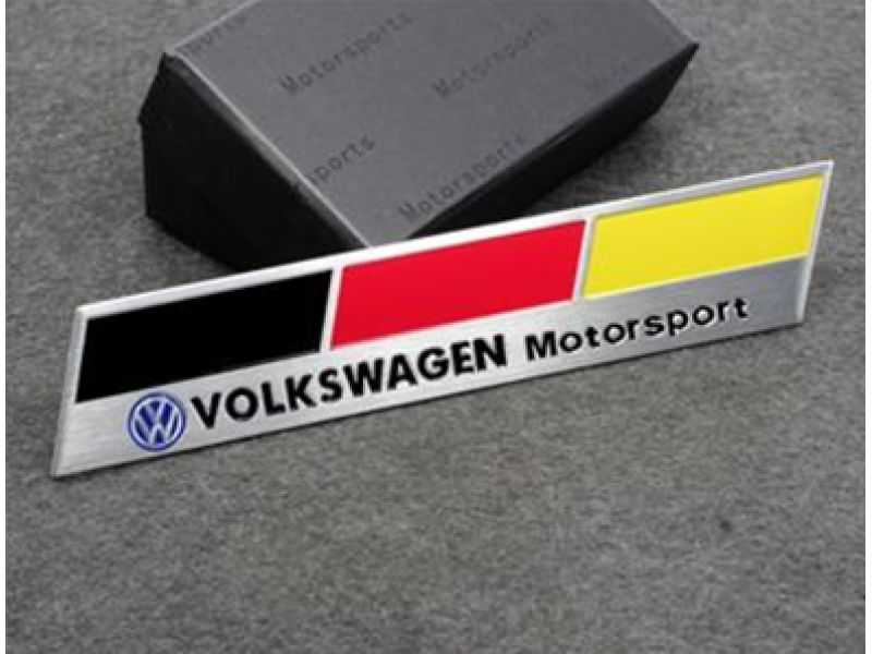 Emblema Badge Volkswagen Motorsport Germany
