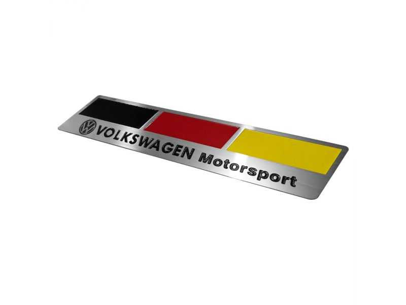 Emblema Badge Volkswagen Motorsport Germany - Diagonal