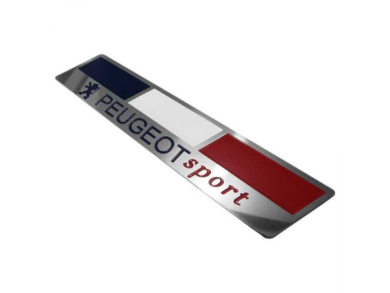 Emblema Badge Peugeot Sport France - Diagonal