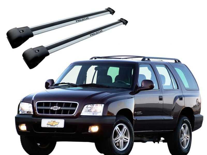 Rack Travessa de Teto para Blazer (todos) S10 Até 2012 - Prata Largo Projecar C-308