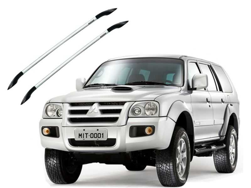 Longarina para Pajero Sport Até 2011 - Prata Tubula Projecar Mi-3021