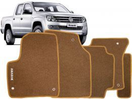 Tapete Carpete Amarok CD 10/.. Bege 5 pçs