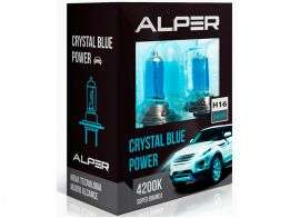 A Lâmpada Super Branca Alper Crystal Blue Power H16 (reta) 4200K