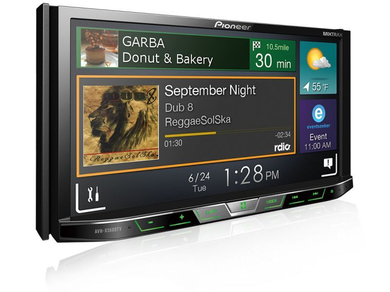 DVD Player Pioneer AVH-X5880TV com AppRadio Mode