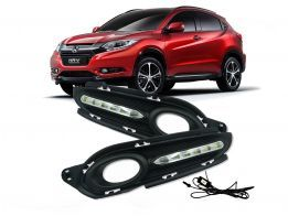 Moldura com Led Daylight DRL do farol de milha para Honda HR-V 2015/2016