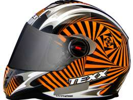 Capacete Texx Action Hypnose Double Vision Laranja S-56