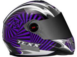 Capacete Texx Action Hypnose Double Vision Roxo M-58