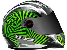 Capacete Texx Action Hypnose Double Vision Verde S-56