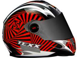 Capacete Texx Action Hypnose Double Vision Vermelho M-58