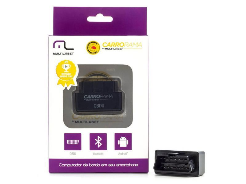 Caixa fechada do Carrorama Scanner Automotivo Bluetooth OBDII