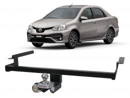 Engate Reboque Toyota Etios Sedan Platinum 2016/2017 Enforth Fixo 500Kg