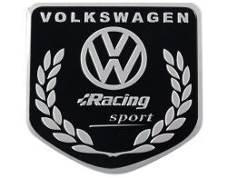 Emblema Badge Volkswagen Racing Sport 5x5cm