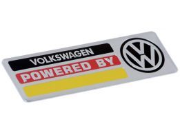 Emblema Badge Powered By Volkswagen 10x3cm