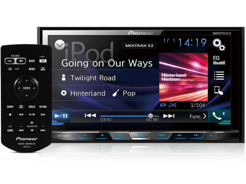 DVD Pioneer AVH-X598TV com Interface Android Waze e Spotify com controle preto do lado
